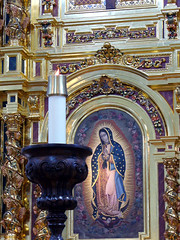 Altar closeup (lorimarsha) Tags: fashion candle basilica chapel virgindeguadalupe spirituality sanjuancapistrano lorimarsha