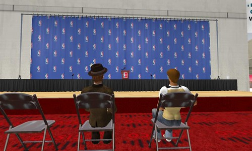 Waiting for the launch of the NBA Headquarters in Second Life.