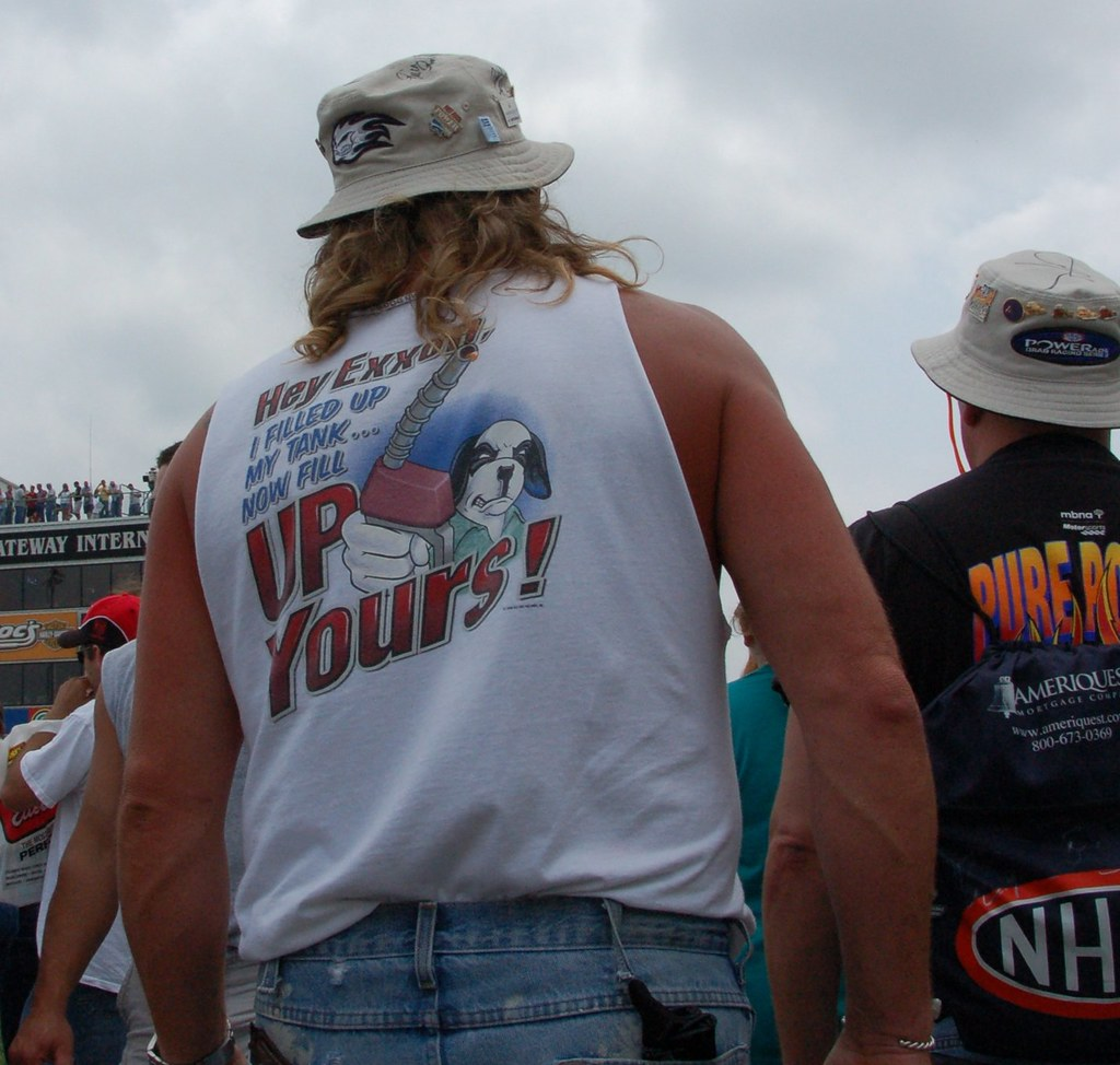 Witty t-shirts galore at drag races