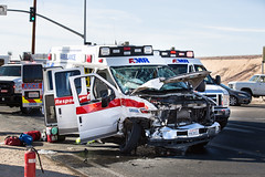 Ambulance hit Head On In Apple Valley-3 (gabrieldespinoza) Tags: car accident victorville hesperia pedestrian news vvng victorvalleynews