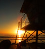 Lifeguard Tower at Sunset (LifebytheShot) Tags: sunset ocean beach lifeguardtower oceanside oceansideca sandiego california socal southerncalifornia