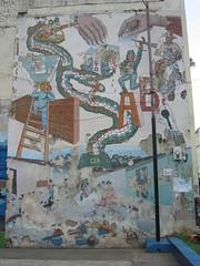 imperialist dragon vs. ballot box (birdfarm) Tags: mural nicaragua imperialism león compañera compañero