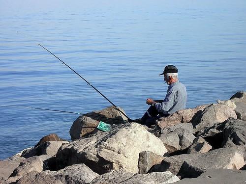 Melilla - De Pesca en el dique Sur