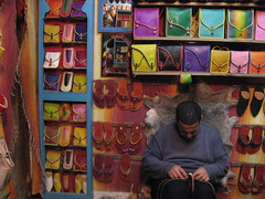 Chefchaouen (blackwine) Tags: africa leather shoe store shoes northafrica morocco purse chefchaouen purses blackwine