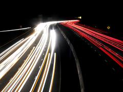 Traffic Trails (_moonpie) Tags: road longexposure usa night lights long exposure traffic north trails raleigh 2006 nighttime carolina i40 traffictrails
