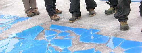 Boots & broken ice