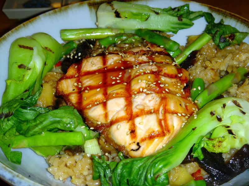 Fresh Salmon Teriyaki Bowl