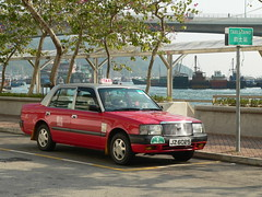 Hong Kong () -  Public Transport () - Taxi () - 2001 Toyota Crown Comfort (Michael Hansen's Hikes) Tags: 2001 cars hongkong michael taxi taxis hong kong toyota crown publictransport  kowloon hansen  newterritories lantau  toyotacrown    crowncomfort michaelhansen hansenshikes