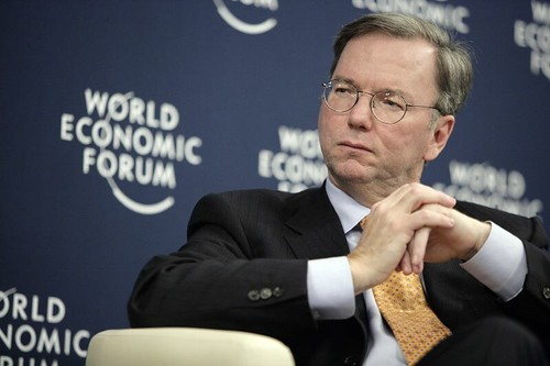 Eric Schmidt at Davos. Photo courtesy of World Economic Forum.
