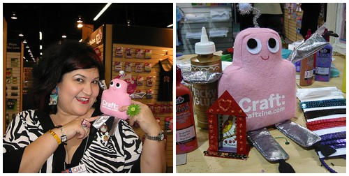 Pink Craftie visits Crafty Chica at CHA
