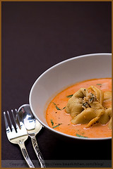 Salmon and Crab Tortellini (La tartine gourmande) Tags: food fish bisque salmon crab pasta homemade savory tortellini