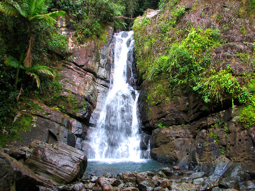 La Mina waterfall, El Yunque rain forest, Sierra Luquillo, Puerto Rico