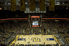 My First Experience Being the 'Underdog' (joschmoblo) Tags: copyright college basketball wisconsin d50 cards nikon milwaukee louisville ncaa 18200 marquette allrightsreserved cardinals 2007 bradleycenter 21707 joschmoblo christinagnadinger