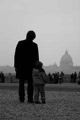 I'll guide you... (_Fuls_) Tags: bw italy rome roma canon italia father son bn padre bianconero figlio 24105l canonef24105mmf4lisusm 123bw 400d fuls
