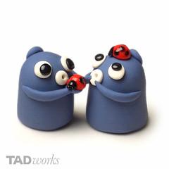 Po with ladybugs (tadworks) Tags: cute toy miniature handmade polymerclay fimo badge tiny po ladybug sculpey tadworks