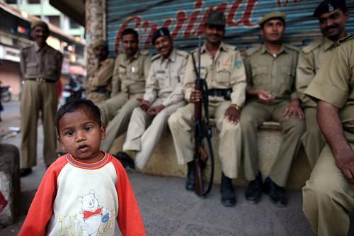 Police kid! Ahmedabad Festival