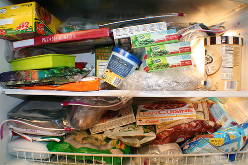 Contents of a freezer