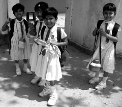 Little School girls (aufidius) Tags: srilanka schoolgirl childrenofsrilankabw