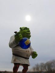 Shrek Pt 2 (Mommyof4Ruggies) Tags: fun toy outside shrek nikond40 flickrchallengegroup flickrchallengewinner