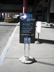 Port Authority Bus Stop at the Pittsburgh International Airport