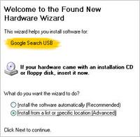 Google Search USB