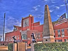 HDR - Oklahoma Memorial Stadium (rhythmandcode) Tags: oklahoma football memorial stadium surreal norman trippy sooner hdr boomer