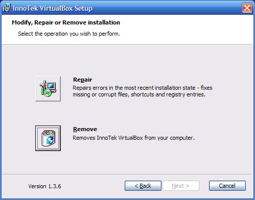 VirtualBox - aggiornarlo - 5 - disinstallazione - remove