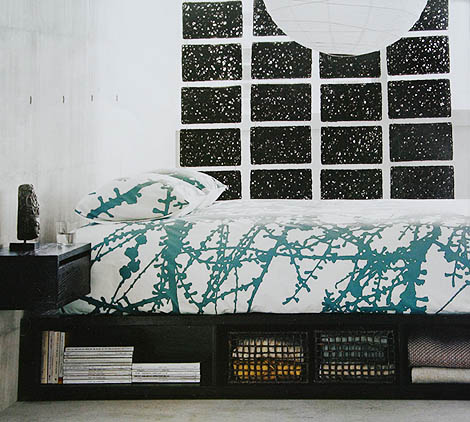 larch bedding from cb2