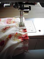 19 - sew cuff to gathered sleeve