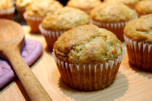 Banana Muffin with Walnuts