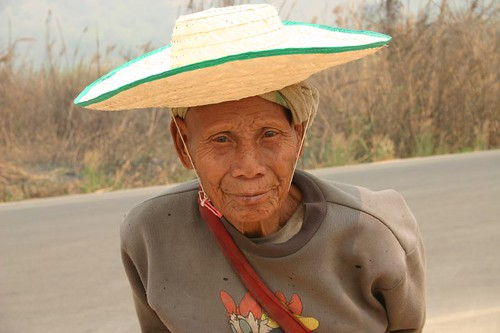 Old hill tribe villager.