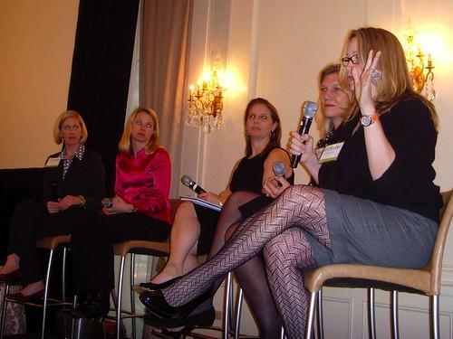 Lisa Stone, Marissa Mayer, Debi Fine, Caroline Little & Stacy Morrison @ BlogHerBiz '07