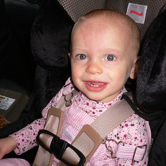 McKenzie in Her New Car Seat