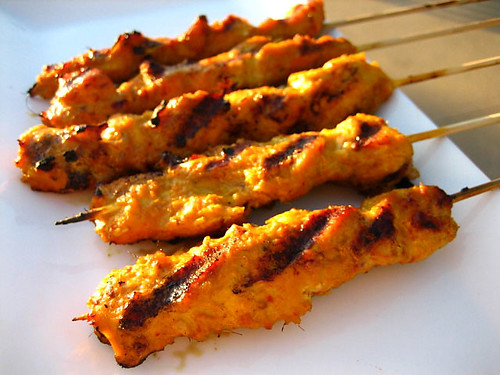 Lemon chicken skewers