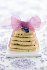 Lavender biscuits (Loua) Tags: food cookies sweet lavender biscuits ribbon thepainter