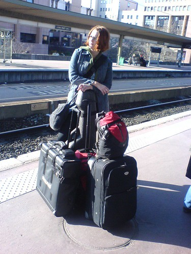 Lobelia with the touring gear - Europe 2007