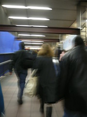 walking in the subway