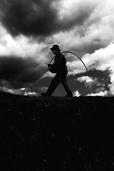 The Shepherd (Luis Montemayor) Tags: sky man clouds walking shepherd earth dirt cielo nubes pastor hombre myfavs tierra caminando iztaccihuatl diamondclassphotographer flickrdiamond