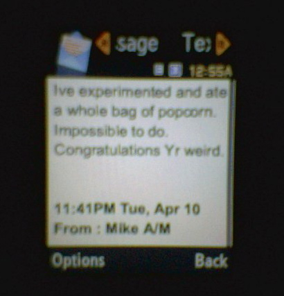 Mike A Popcorn Message