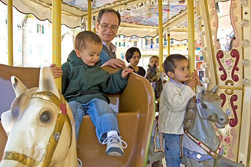 Hancocks in the merry-go-round in Lerici