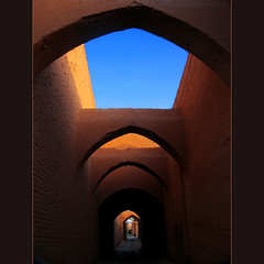 Fantasy in Yazd (HORIZON) Tags: ancient bravo iran horizon arc persia lane narrow soe lanes yazd narrowlanes arced anawesomeshot colorphotoaward superaplus aplusphoto superbmasterpiece yazdcity ancientlanes arcedlanes