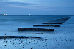 The blue hour (~Glen B~) Tags: uk longexposure england nikond70 dusk cleveland teesside redcar colorphotoaward satelliteportfolio