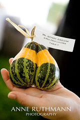 Stuck together (Anne Ruthmann) Tags: wedding detail fall michigan gourd edible placecard denajeff