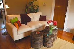 Peggy's Zen living room makeover, Seattle, Washington, USA