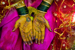 wedding hands (phitar) Tags: wedding red india bride hands henne hampi