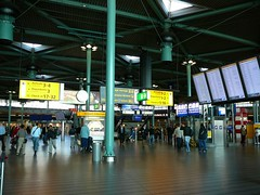 Dark and colorful, Schiphol airport