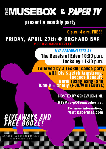 MUSEBOX PARTY ORCHARD BAR 4/27