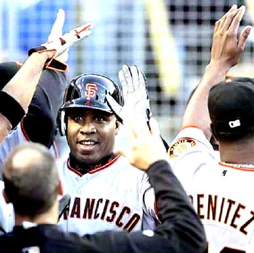 Giants win 7 in a row! Bonds HR # 741 is by guano, on Flickr