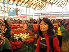 April in the flower market
