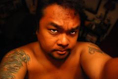 Et Tu Boote' (et tu boote') Tags: portrait me tattoo photoshop dark scary nikon emotion boote horror deviant tu et pinoy knucklehead ps7 homestudio d80 impressedbeauty